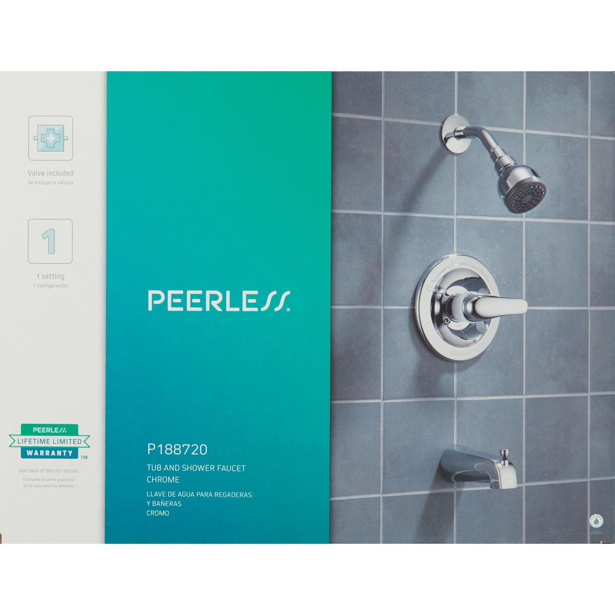 Peerless Chrome 1 Handle Lever Tub And Shower Faucet Lake Hardware Lumber