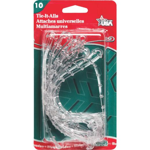 Adams 12 In. Clear Plastic Garland Tie (10-Pack)