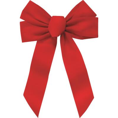 Holiday Trims 5-Loop 11 In. W. x 16 In. L. Red Velvet Christmas Bow